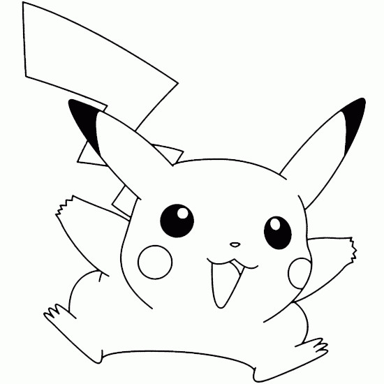 Coloriage pikachu en ligne dessin gratuit imprimer - Coloriage pikachu en ligne ...