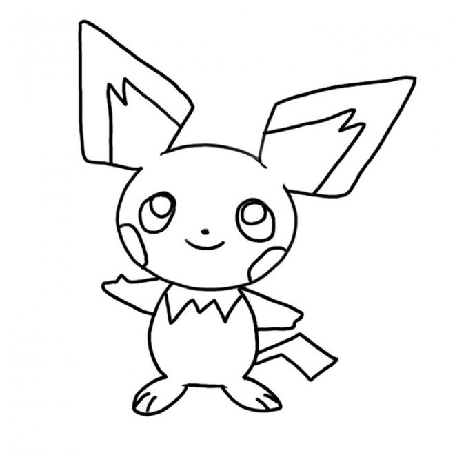 Coloriage pikachu pour enfant dessin gratuit imprimer - Pikachu dessin anime ...