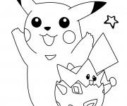 Coloriage et dessins gratuit Dessin de Pikachu trop mignon à imprimer