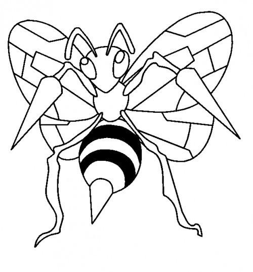 Coloriage et dessins gratuits Dessin pokémon Bee facile à imprimer