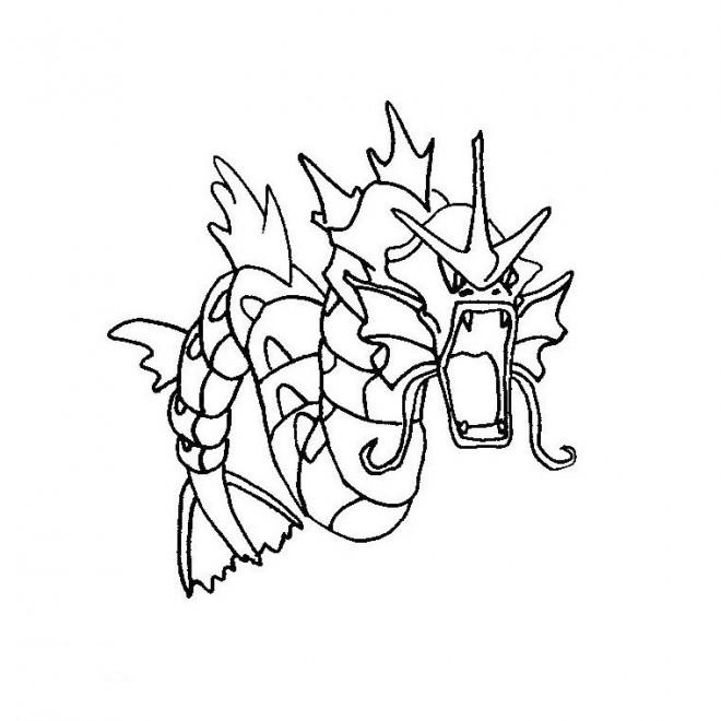 Coloriage dessin pok mon mega evolution dragon - Dessin de pokemon facile ...