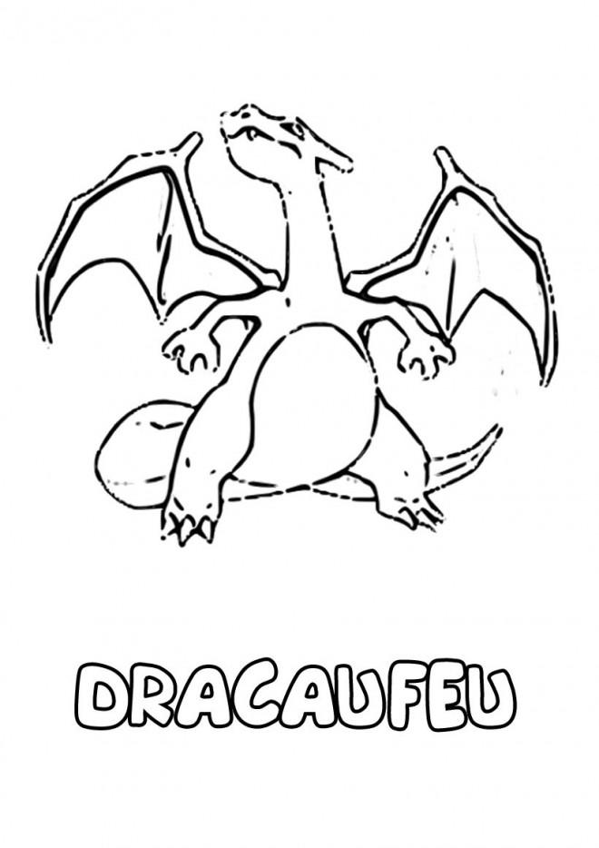 Coloriage Dragon Dracaufeu En Ligne Dessin Gratuit à Imprimer