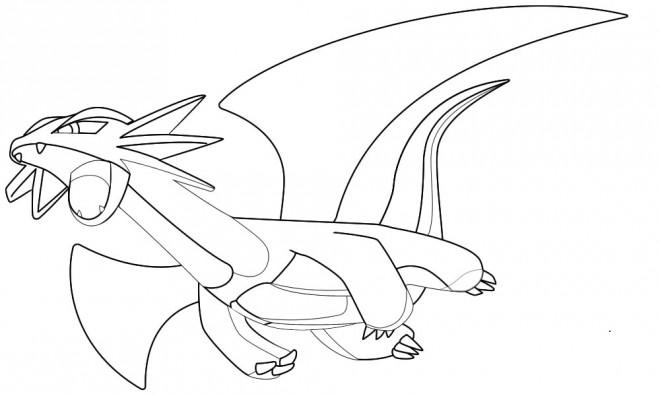 Coloriage Dragon Légendaire De Pokémon