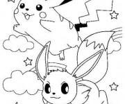 Coloriage Pikachu à télécharger