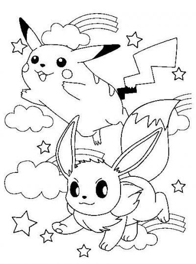 Coloriage et dessins gratuits Pikachu à télécharger à imprimer