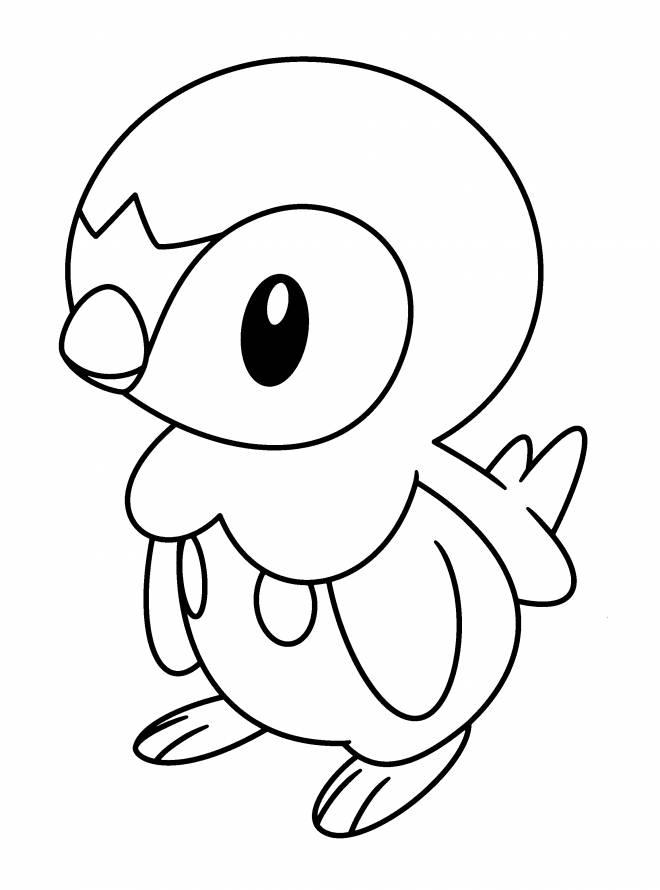 Coloriage et dessins gratuits Pingouin Pokémo à imprimer