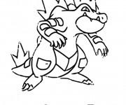 Coloriage Pokémon Aligatueur facile