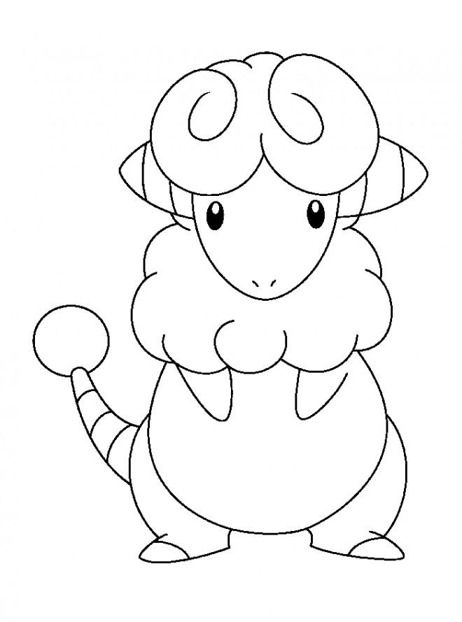 Coloriage pok mon animal en ligne dessin gratuit imprimer - Coloriage pikachu en ligne ...