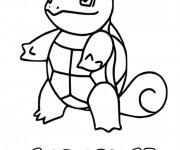 Coloriage et dessins gratuit Pokémon Carapuce à imprimer