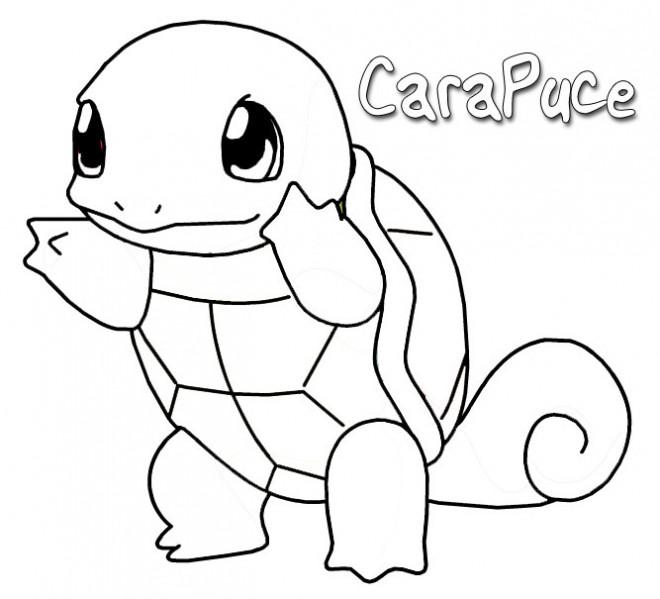 Coloriage Pokemon Carapuce Attaque Dessin Gratuit A Imprimer