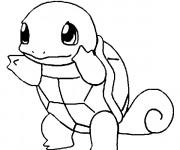 Coloriage et dessins gratuit Pokémon Carapuce en ligne à imprimer