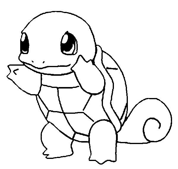 Coloriage et dessins gratuits Pokémon Carapuce en ligne à imprimer