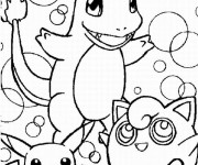 Coloriage Pokémon Charmander