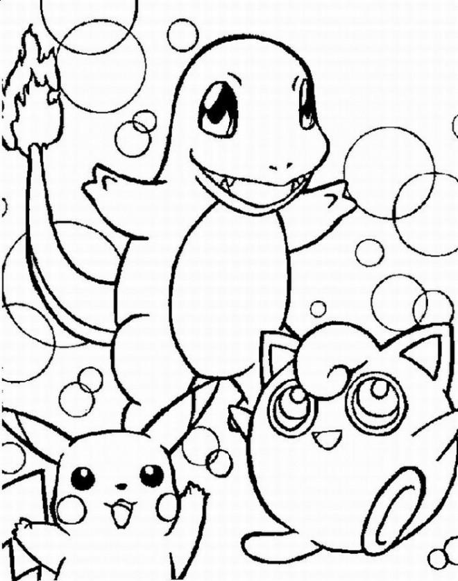 Coloriage et dessins gratuits Pokémon Charmander à imprimer