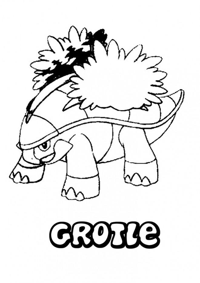 Coloriage et dessins gratuits Pokémon Crotle à imprimer
