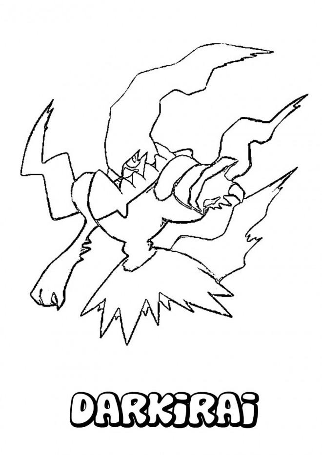 Coloriage et dessins gratuits Pokemon Darkirai à imprimer
