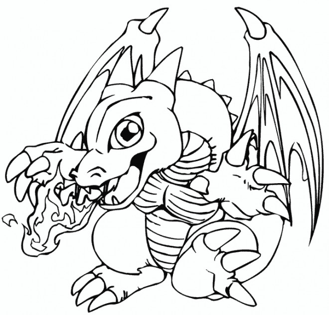 Coloriage et dessins gratuits Pokémon Dracaufeu bébé à imprimer