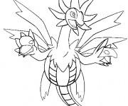 Coloriage Pokemon Dragon facile pour coloriage