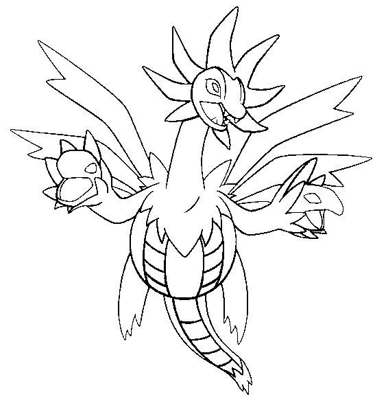 Coloriage et dessins gratuits Pokemon Dragon facile pour coloriage à imprimer