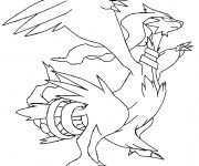 Coloriage Pokémon Dragon Reshiram