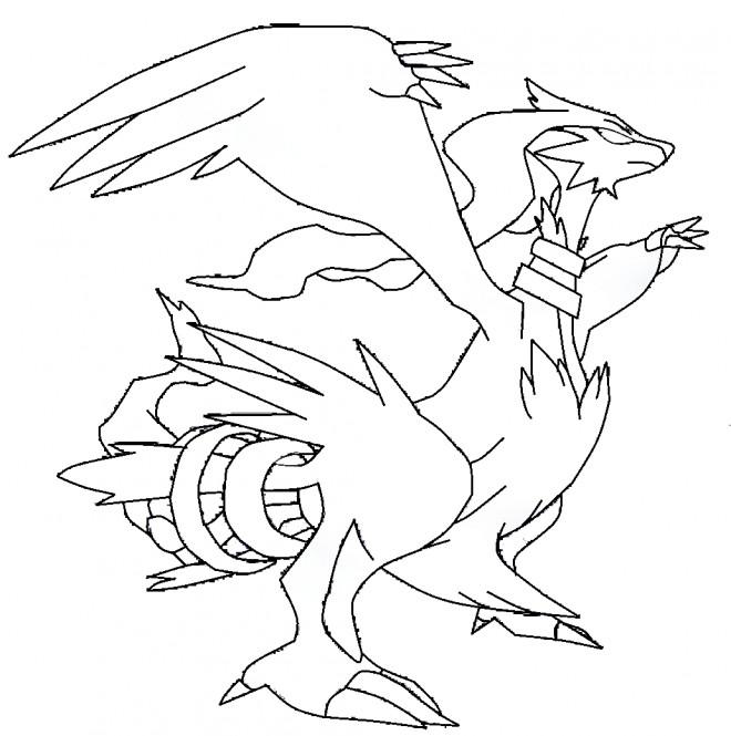 Coloriage et dessins gratuits Pokémon Dragon Reshiram à imprimer