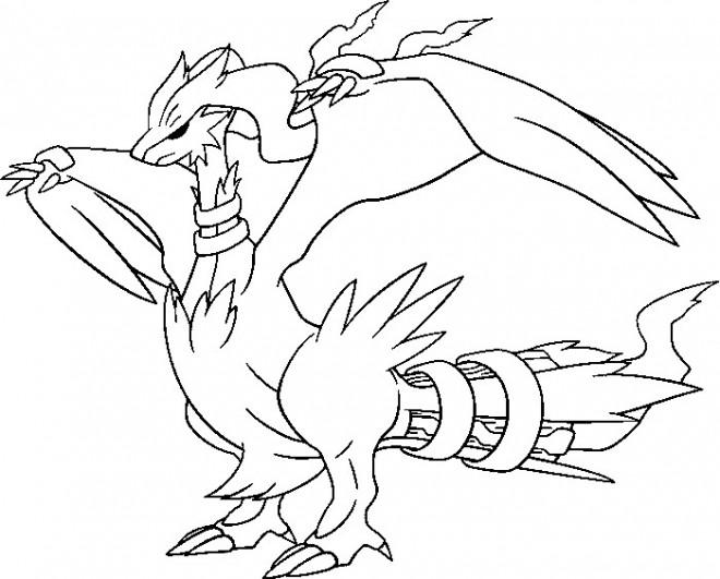 Coloriage Pok mon Dragon Reshiram dessin dessin gratuit