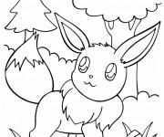 Coloriage et dessins gratuit Pokémon Eevee à imprimer