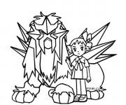 Coloriage Pokémon et fille