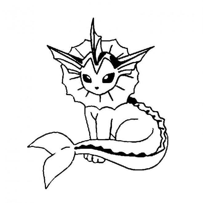 Coloriage et dessins gratuits Pokémon evoultion dessin à imprimer