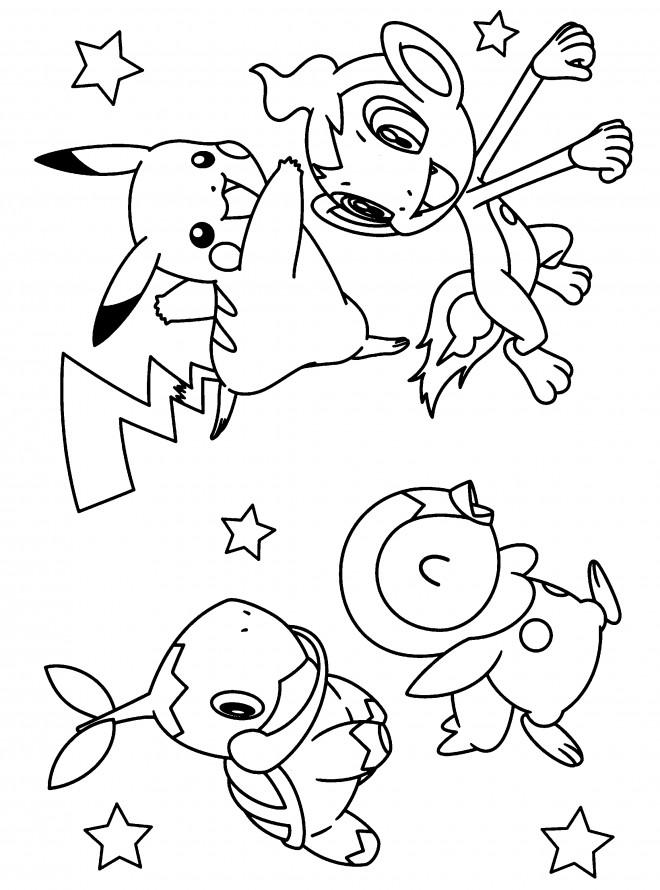Coloriage pok mon facile dessin gratuit imprimer - Dessin pokemon facile ...