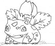 Coloriage Pokémon florizarre dessin