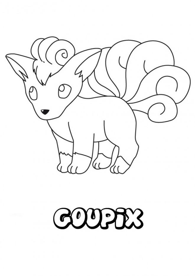 Coloriage et dessins gratuits Pokémon Goupix en ligne à imprimer