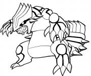 Coloriage Pokémon Groudon légendaire