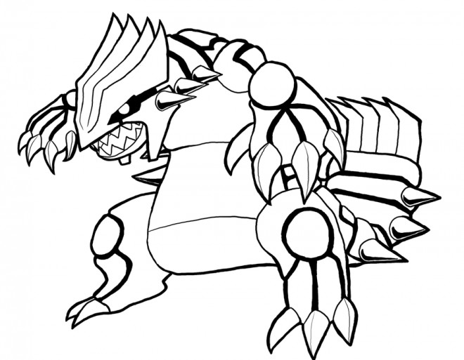 Coloriage Pokemon Groudon Legendaire