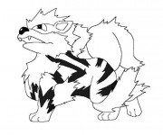 Coloriage Pokémon Growlithe