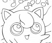 Coloriage Pokemon Jigglypuff en ligne