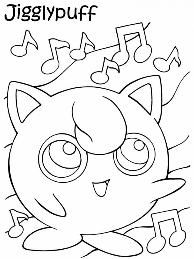 Coloriage et dessins gratuits Pokemon Jigglypuff en ligne à imprimer