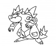 Coloriage Pokémon Kaïminus crocodile