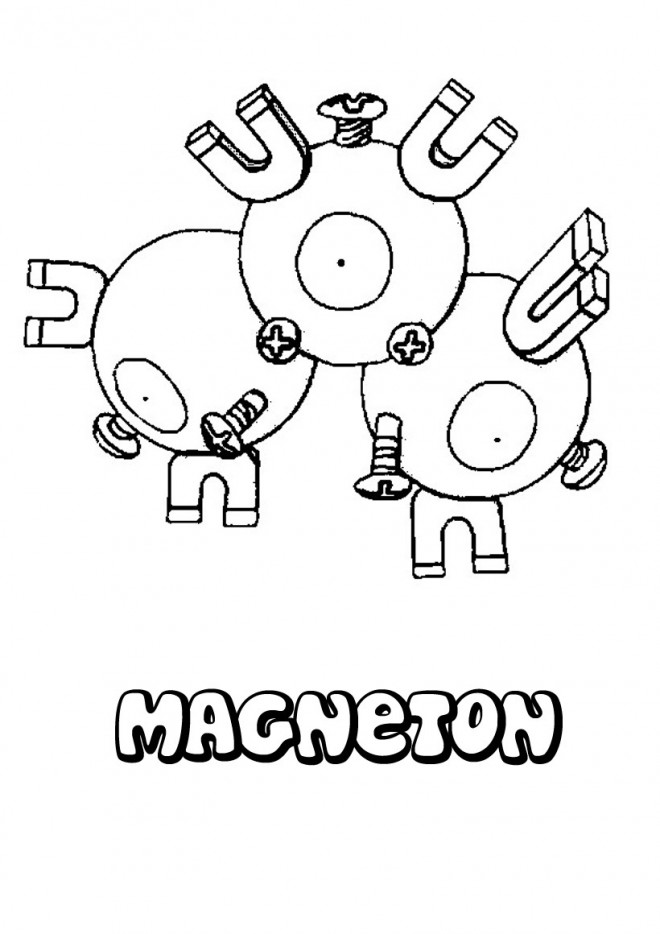Coloriage Pokémon Macheton Facile à Faire
