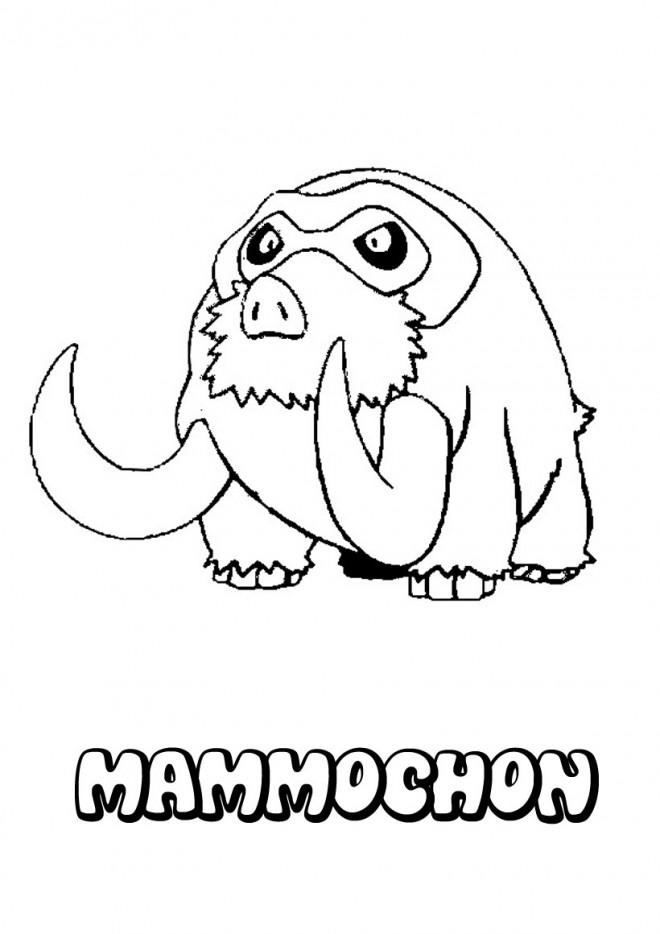 Coloriage Pokémon Mammochon Facile Dessin Gratuit à Imprimer