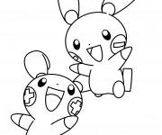 Coloriage Pokémon noir et blanc