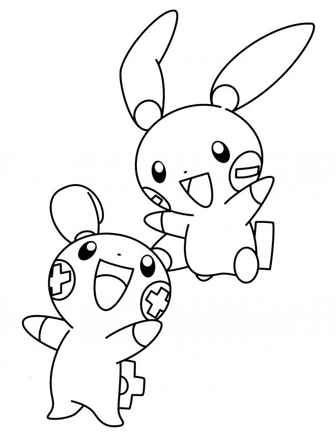 Coloriage et dessins gratuits Pokémon noir et blanc à imprimer