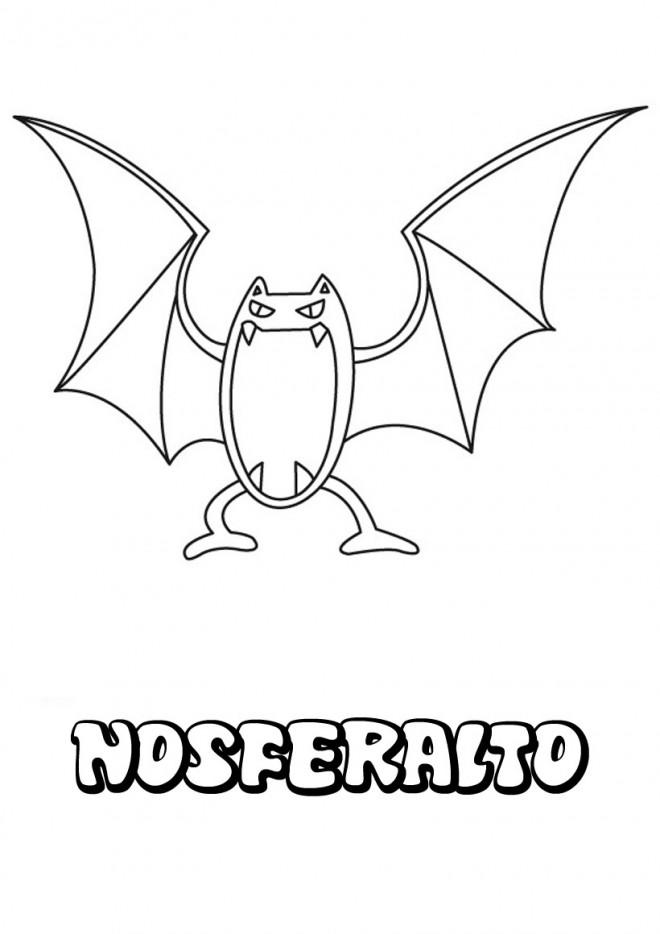 Coloriage et dessins gratuits Pokémon Nosferalto à imprimer