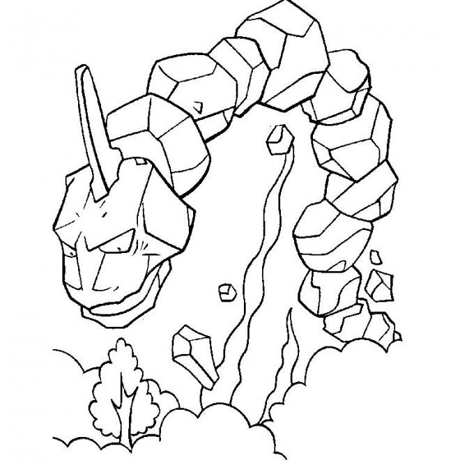 Coloriage pokemon onix en ligne dessin gratuit imprimer - Dessin de pokemon facile ...