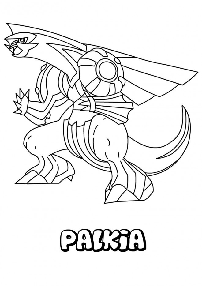 Coloriage et dessins gratuits Pokémon Palkia à imprimer
