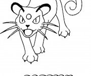 Coloriage Pokémon Persian dessin