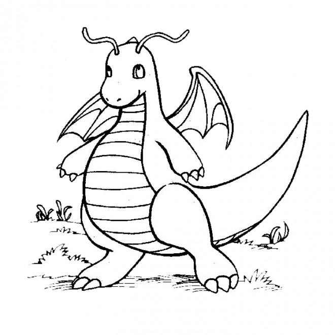 Coloriage pok mon petit dragon dessin gratuit imprimer - Dessin pokemon legendaire a imprimer gratuit ...