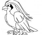 Coloriage et dessins gratuit Pokémon Pidgeotto à imprimer