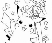 Coloriage Pokémon Pikachu et ses amis
