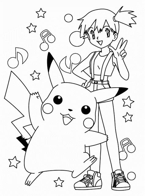Coloriage pok mon pikachu et ses amis dessin gratuit - Pikachu dessin anime ...